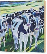Curiosity Cows Original Sold Prints Available Wood Print
