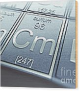 Curium Chemical Element Wood Print