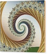 Curl #8 Wood Print