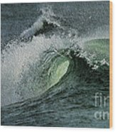 Curl Of The Wave Wood Print