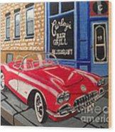 Curley's Corvette Wood Print