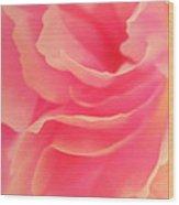 Curling Blossom Wood Print
