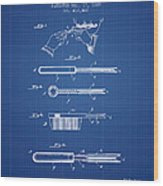 Curling Tongs Patent From 1889 - Blueprint Wood Print