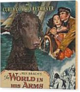 Curly Coated Retriever Art - The World In His Arms Movie Poster Wood Print