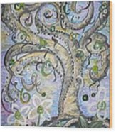 Curly Tree In Fantasy Land Wood Print