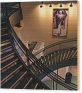 Curly's Stairway Wood Print