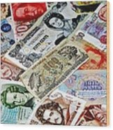 Currencies Wood Print