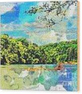 Current River Mo - Digital Paint II Wood Print