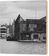 Currently Condemned Pier 64 On The Hudson River New York City Wood Print