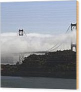 Currents Of Fog Flowing Through The Golden Gate Wood Print