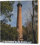 Currituck Beach Lighthouse Corolla Nc Color Img 3772 Wood Print