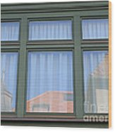 Curtained Reflection Wood Print
