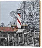 Curtin's Wharf Burlington New Jersey Wood Print