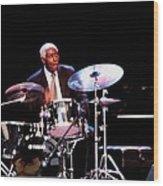 Curtis Boyd On Drums Wood Print