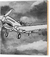 Curtiss P-40 Warhawk 2 Wood Print