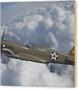 Curtiss P-40 Warhawk Flying Tigers Wood Print