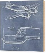 Curtiss-wright Cw-25 Patent Wood Print