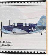 Curtiss Wright Sb2c-5 Helldiver Wood Print