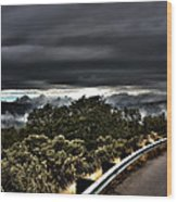 Curve On The Road To Heaven  Wood Print