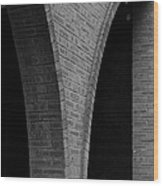 Curved Bricks Wood Print