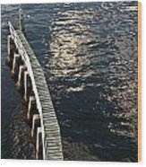 Curved Fender Las Olas Drawbridge Fort Lauderdale Florida Wood Print