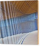 Curved Glass Wall Pattern Wood Print by ELITE IMAGE photography By Chad McDermott