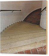 Curved Stairway At Brandywine River Museum Wood Print