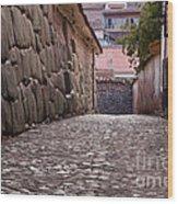 Cusco City Street Wood Print