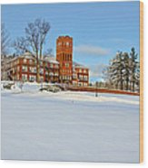 Cushing Academy In Winter Wood Print