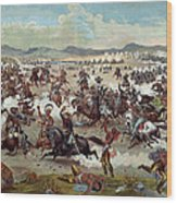Custer's Last Charge Wood Print