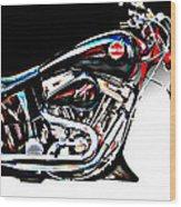 Custom Bike Study 1 Wood Print