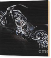 Custom Chopper Wood Print