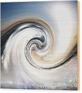 Custom Chrome Wave Wood Print by Jeffery Fagan