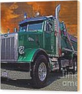 Custom Gravel Truck Catr0278-12 Wood Print