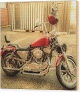 Custom Harley   Hdr Wood Print