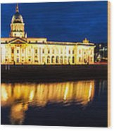 Custom House And International Financial Services Centre Wood Print