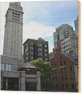 Custom House - Boston Wood Print