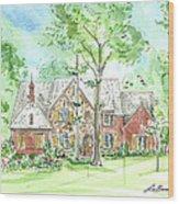 House Portrait Or Rendering Sample Wood Print