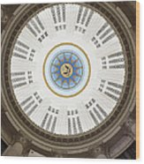 Custom House Tower Ceiling Boston Wood Print