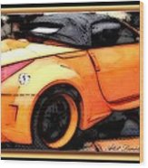 Custom Orange Sports Car Wood Print by Danielle  Parent