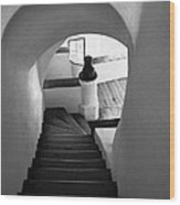 Custom Stairs To Heaven-dracula's Castle  Wood Print
