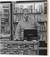 Customer Service Wood Print