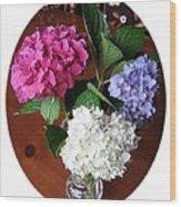 Cut Hydrangeas Wood Print