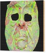Cut Out Mask Wood Print