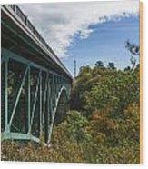Cut River Bridge 1 C Wood Print