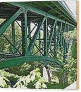 Cut River Bridge Near Epoufette Michigan Wood Print