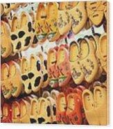 Cute Clogs Wood Print