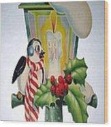 Cute Vintage Christmas Wood Print