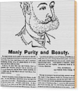 Cuticura Ad, 1887 Wood Print