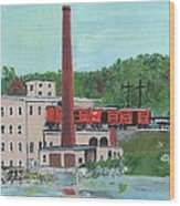 Cutler's Mill - Circa 1870 Wood Print